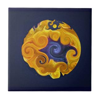 Baldosa cerámica de la esfera del fuego y del agua tejas  cerámicas