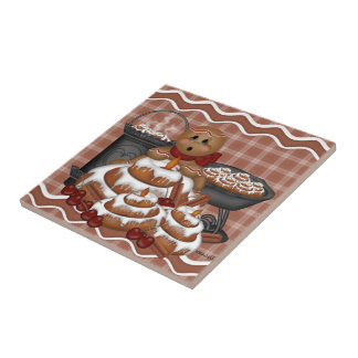 Baldosa cerámica de la especia del pan de jengibre azulejo cuadrado pequeño