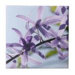 Baldosa cerámica de la flor púrpura azulejos cerámicos