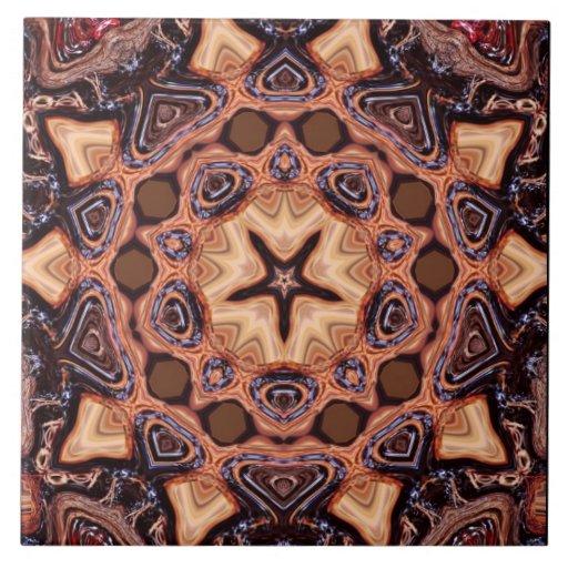 Baldosa cerámica de la geometría de la mandala del azulejo cuadrado grande