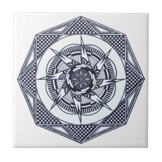 Baldosa cerámica de la mandala a cuadros de la azulejo cuadrado pequeño