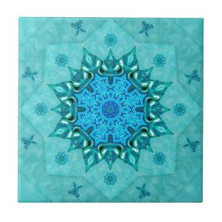Baldosa cerámica de la mandala de la naturaleza de azulejo cuadrado pequeño