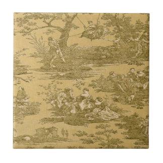Baldosa cerámica de la mantequilla francesa del pa azulejo cuadrado pequeño