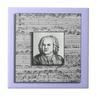 Baldosa cerámica de la música barroca de Bach Tejas