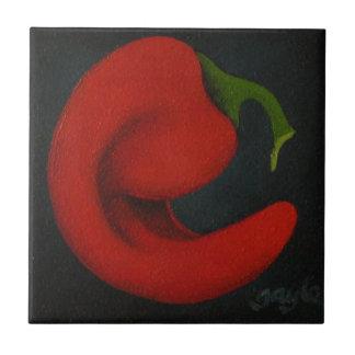 Baldosa cerámica de la pimienta de chile de Rojo Azulejo Cuadrado Pequeño