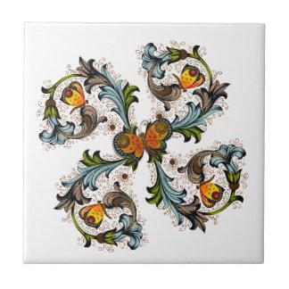 Baldosa cerámica de la pintura floral florentina teja cerámica