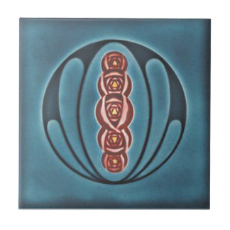 Baldosa cerámica de la reproducción del art déco A Tejas Cerámicas