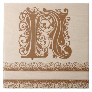 Baldosa cerámica de la textura de madera marrón cl azulejo cuadrado grande