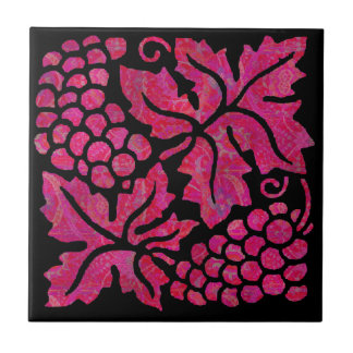 Baldosa cerámica de la uva púrpura y negra azulejo cerámica