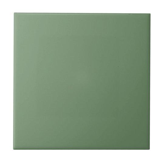 Baldosa cerámica de la verde salvia sólida azulejo cuadrado pequeño