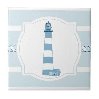 Baldosa cerámica de las rayas náuticas azules del azulejo cuadrado pequeño