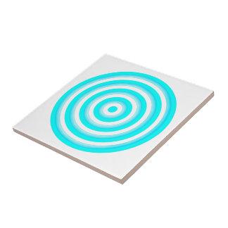 Baldosa cerámica de los círculos concéntricos azulejo cuadrado pequeño