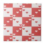 Baldosa cerámica de los corazones rojos y blancos azulejos cerámicos