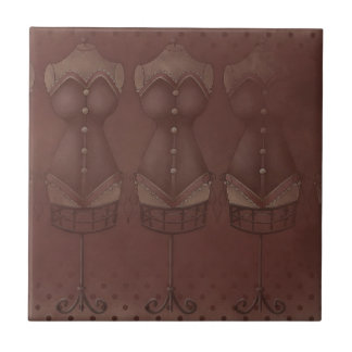 Baldosa cerámica de los corsés del vintage de las  teja cerámica