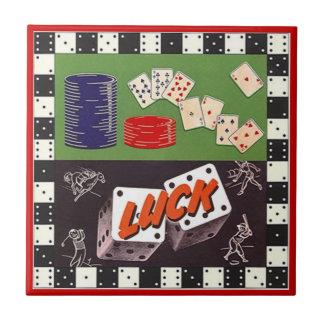 Baldosa cerámica de los dados del póker de los dom tejas  cerámicas