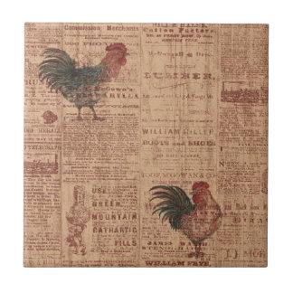Baldosa cerámica de los gallos franceses del país  azulejo cuadrado pequeño