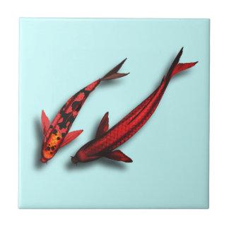 Baldosa cerámica de los pescados rojos de Koi Azulejo Cerámica