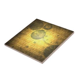 Baldosa cerámica de los relojes de oro punkyes del tejas  cerámicas