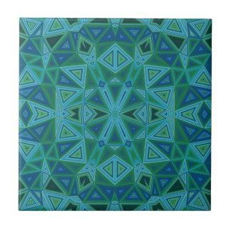 Baldosa cerámica de los triángulos azulverdes azulejos