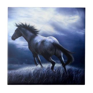 Baldosa cerámica de medianoche del caballo oscuro azulejos cerámicos