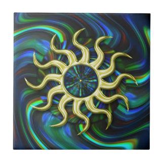 Baldosa cerámica de Sun del invierno abstracto Tejas Cerámicas