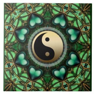 Baldosa cerámica de Yin Yang del oro de los corazo Azulejo Ceramica