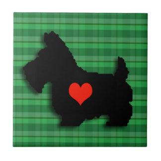 Baldosa cerámica del amor del corazón del escocés tejas