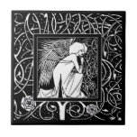 Baldosa cerámica del ángel de Beardsley del vintag Azulejos Ceramicos