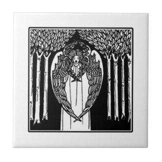 Baldosa cerámica del ángel de Nouveau del arte de Azulejo Cuadrado Pequeño