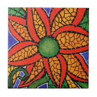 Baldosa cerámica del arte colorido brillante de la azulejo cuadrado pequeño