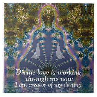 Baldosa cerámica del arte visionario espiritual de teja