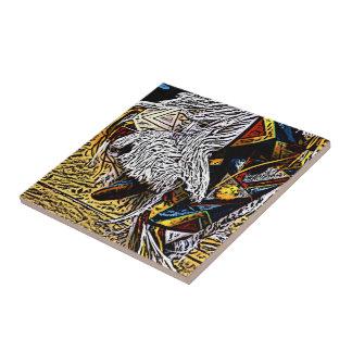 Baldosa cerámica del bailarín de la hierba azulejo ceramica