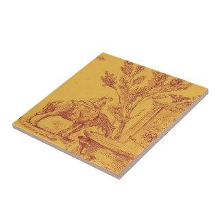 Baldosa cerámica del caballo francés del país del  azulejo ceramica