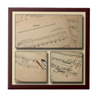 Baldosa cerámica del collage de la música del pian teja