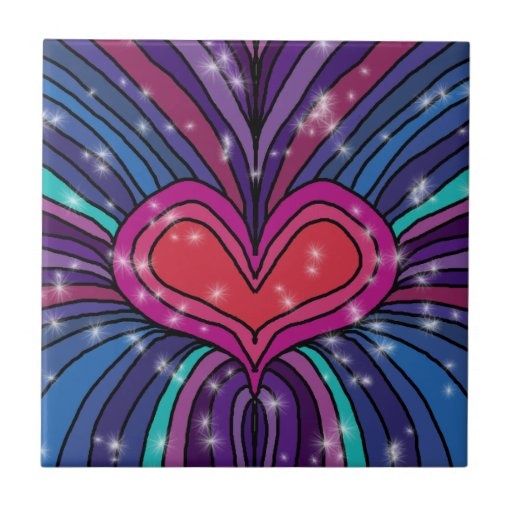 Baldosa cerámica del corazón abstracto azulejo cuadrado pequeño