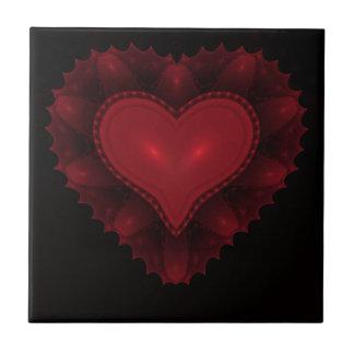 Baldosa cerámica del corazón rojo azulejo cuadrado pequeño