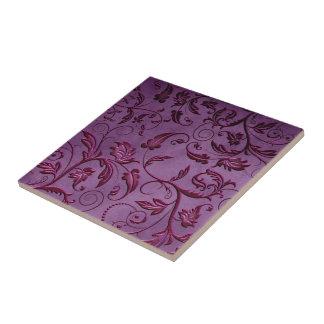 Baldosa cerámica del cordón púrpura de las vides d azulejo ceramica