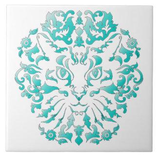 Baldosa cerámica del damasco del gato azulejo cuadrado grande