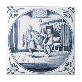 Baldosa cerámica del diseño bíblico de DBT01 Delft Azulejos Ceramicos