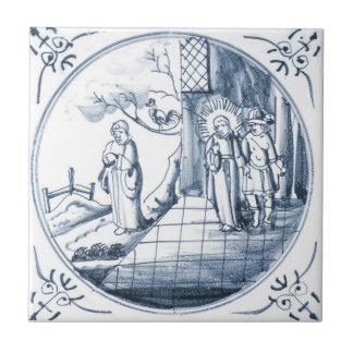 Baldosa cerámica del diseño bíblico de DBT09 Delft Teja