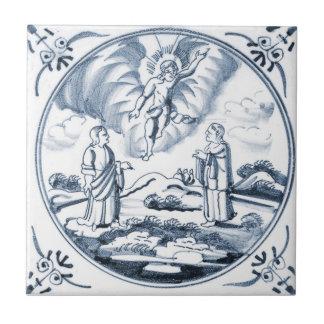 Baldosa cerámica del diseño bíblico de DBT14 Delft Azulejo Cuadrado Pequeño