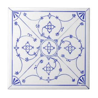 Baldosa cerámica del diseño de Delft Blau Azulejo Cuadrado Pequeño