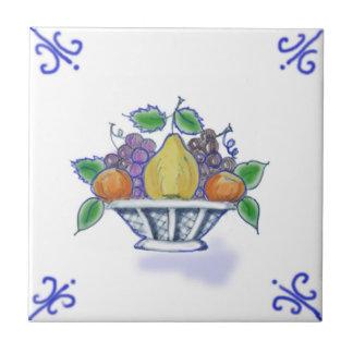 Baldosa cerámica del diseño de la cesta de fruta azulejo cuadrado pequeño