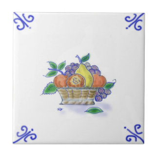 Baldosa cerámica del diseño de la cesta de fruta d azulejo cuadrado pequeño