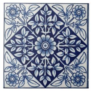Baldosa cerámica del diseño gótico azul y blanco azulejo cuadrado grande