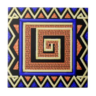 Baldosa cerámica del estilo africano azulejo cuadrado pequeño