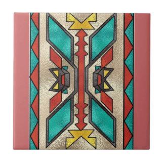 Baldosa cerámica del estilo al sudoeste azulejo cuadrado pequeño