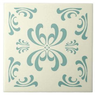 Baldosa cerámica del Flourish de Nouveau de la Azulejo Cuadrado Grande