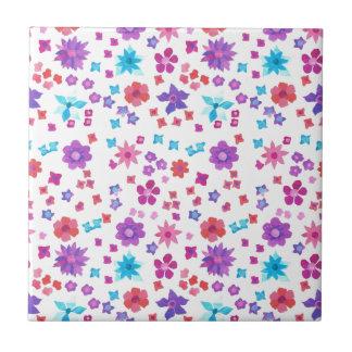 Baldosa cerámica del flower power bonito del hippy azulejo cuadrado pequeño