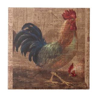 Baldosa cerámica del gallo francés del país del vi azulejo cuadrado pequeño